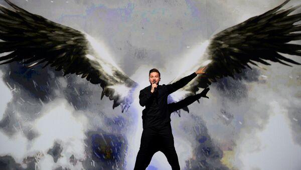 Сергей Лазарев во время финала 61-го международного конкурса песни Евровидение - 2016 в Стокгольме