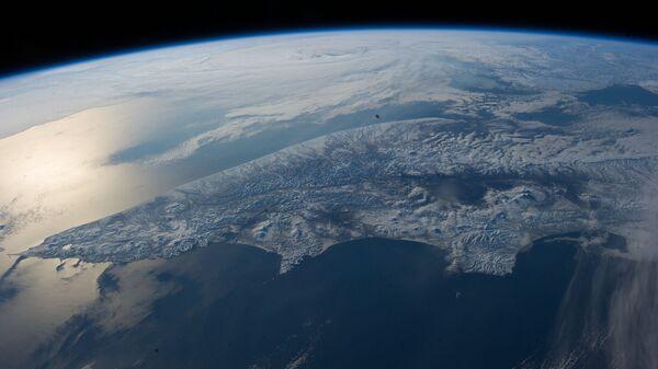 Вид на Берингово море со МКС