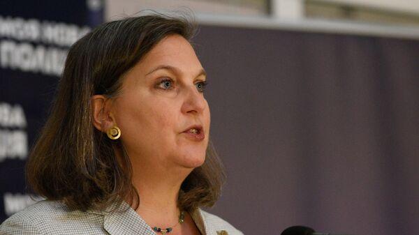 Помощник госсекретаря США Виктория Нуланд в Киеве. Архив