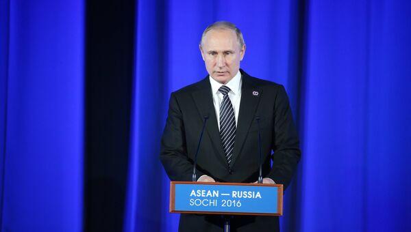Президент Российской Федерации Владимир Путин выступает на торжественном приеме от имени президента РФ