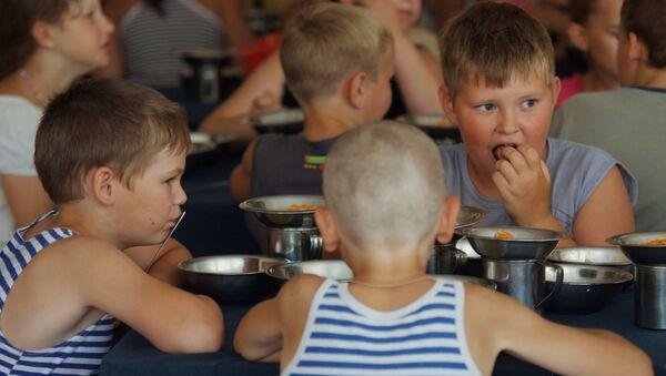 Дети в лагере. Архивное фото