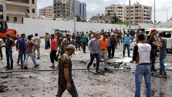 Последствия взрыва в городе Тартус, Сирия. Архивное фото