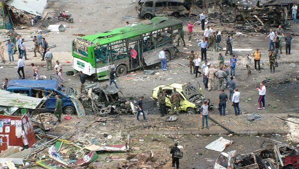 Последствия взрыва в городе Тартус, Сирия