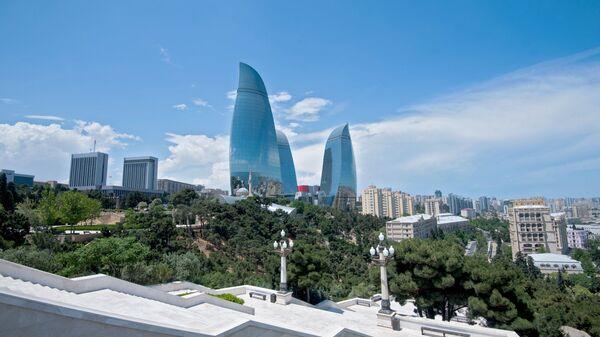 Высочайшие здания в Азербайджане Пламенные башни и здание парламента в Баку