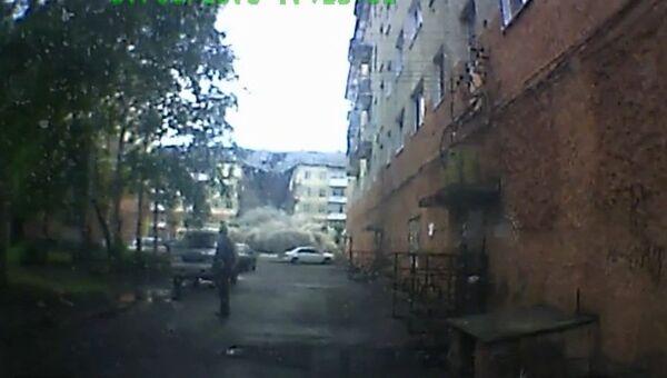 Авторегистратор снял момент обрушения дома в Междуреченске