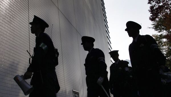 Сотрудники правоохранительных органов Японии. Архивное фото