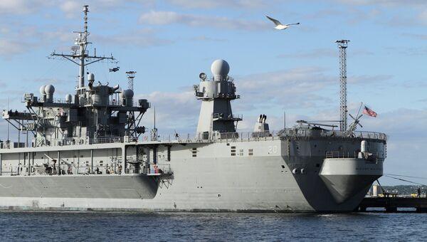 Флагманский корабль шестого флота США Mount Whitney. Архивное фото