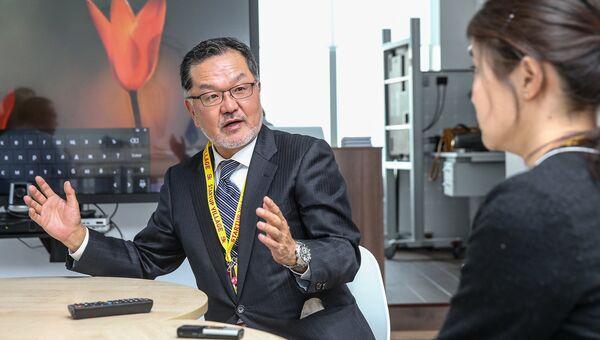 Глава дивизиона потребительской электроники Panasonic в Европе Дзюнитиро Китагава.