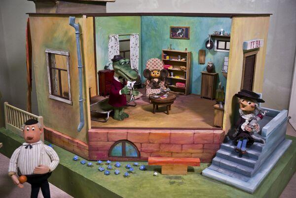 Комната крокодила Гены - экспонат Музея киностудии Союзмультфильм, которой исполняется 80 лет