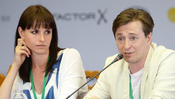 Режиссер Анна Матисон и актер Сергей Безруков на пресс-конференции фильма После тебя
