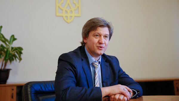 Министр финансов Украины Александр Данилюк. Архивное фото