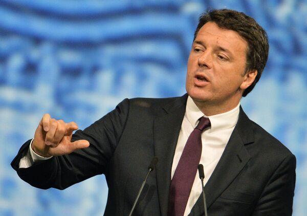 Председатель Совета министров Италии Маттео Ренци на Петербургском международном экономическом форуме