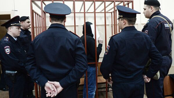 Фигурант дела об убийстве оппозиционного политика Бориса Немцова Хамзат Бахаев в Мосгорсуде