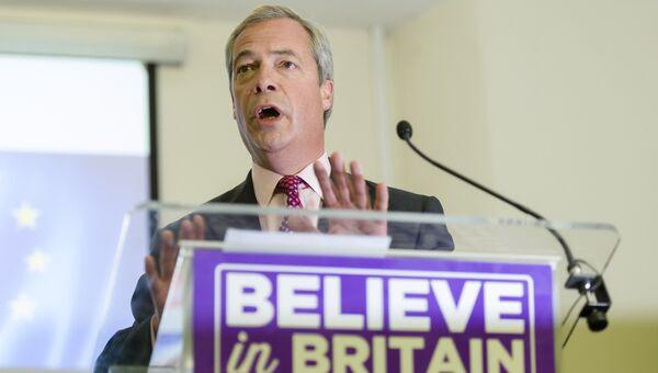 Лидер партии независимости Соединенного Королевства Найджел Фарадж. Архивное фото