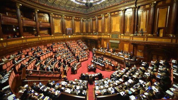 Заседание сената Италии. Архивное фото
