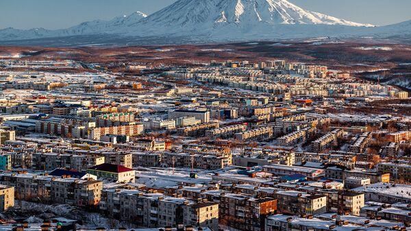Вид на город Петропавловск-Камчатский