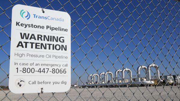 Компрессорная станция компании TransCanada для нефтепровода Keystone XL в Небраске, США. Архивное фото