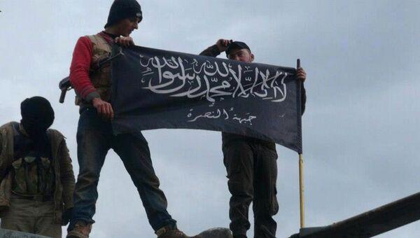 Боевики террористической группировки Джебхат ан-Нусра на севере Сирии