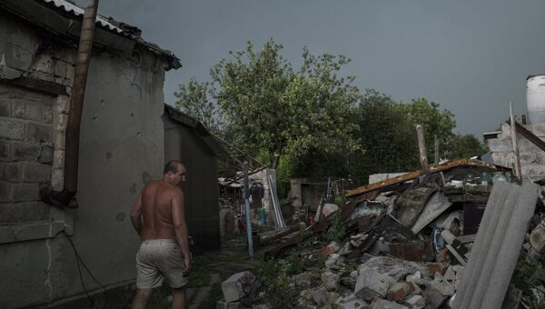 Поселок Спартак в Донецкой области. Архивное фото