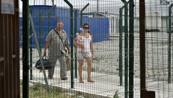 На пункте пропуска Джанкой на границе России и Украины. Архивное фото