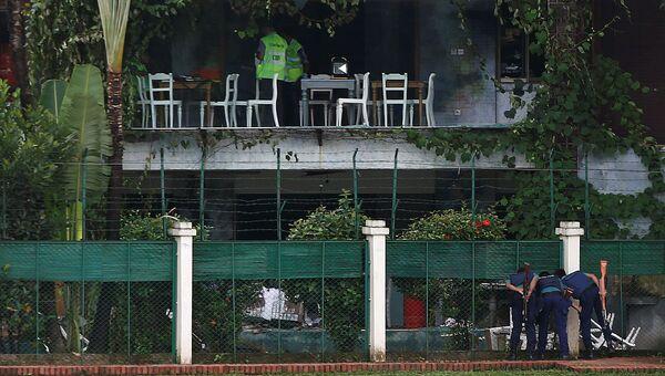 Ресторан в Дакке, подвергшийся нападению террористов