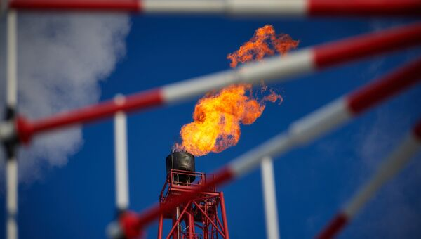 Газовый факел. Архивное фото