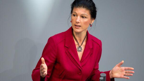 Лидер фракции Левые в бундестаге Сара Вагенкнехт. Архивное фото