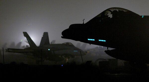 Самолеты Королевских военно-воздушные сил Великобритании на базе в Кувейте