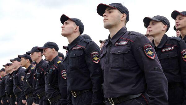 Сотрудники российской полиции . Архивное фото