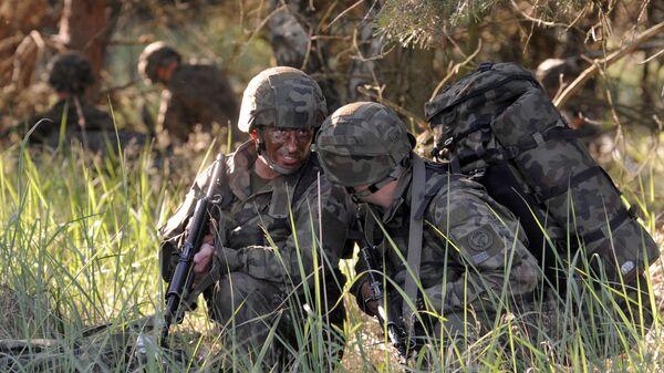 Солдаты польской армии во время учений НАТО