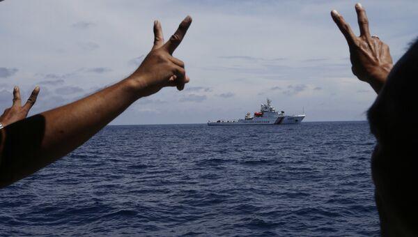 Корабль береговой охраны Китая в Южно-Китайском море. Архивное фото