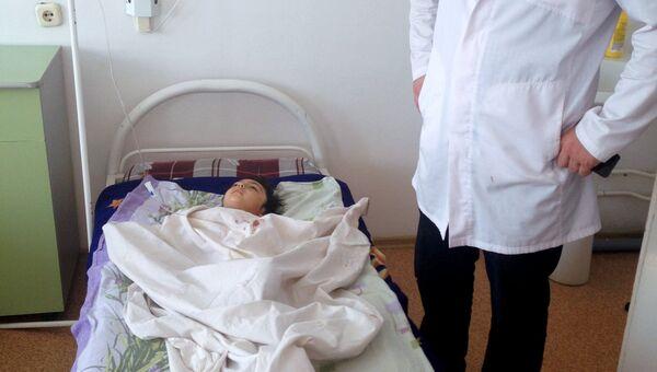 Ребенок пострадавший в результате ДТП в Дагестане