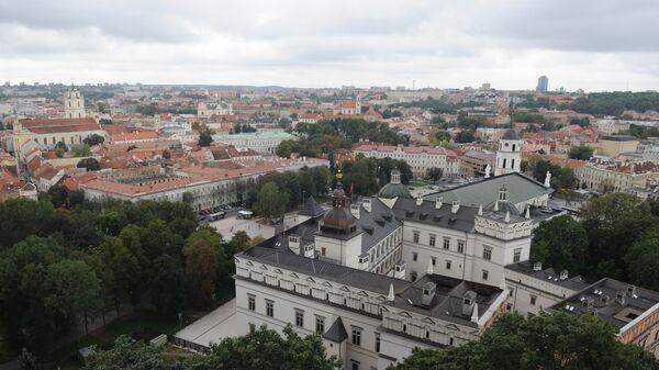 Вид на город с башни Гедиминаса в Вильнюсе