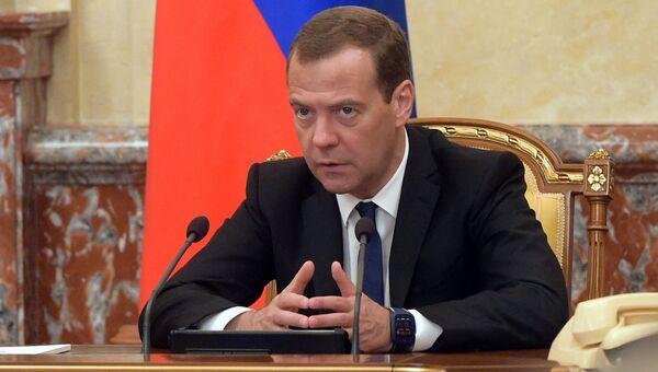 Премьер-министр России Д. Медведев. Архивное фото