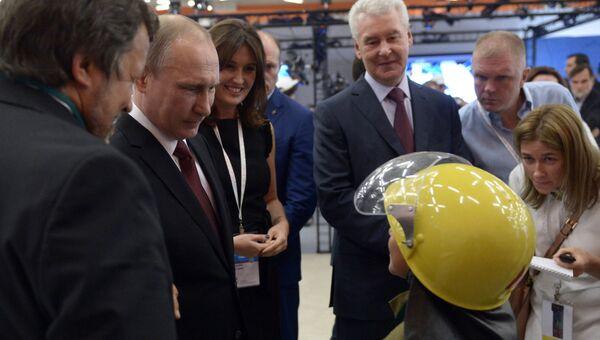 Президент РФ В. Путин принял участие в заседании экспертного совета АСИ