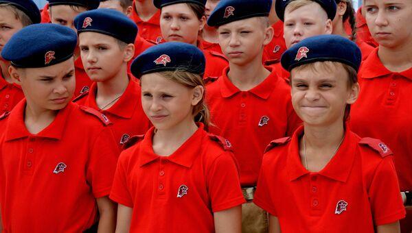 Участники молодежного военно-патриотического движения Юнармия. Архивное фото