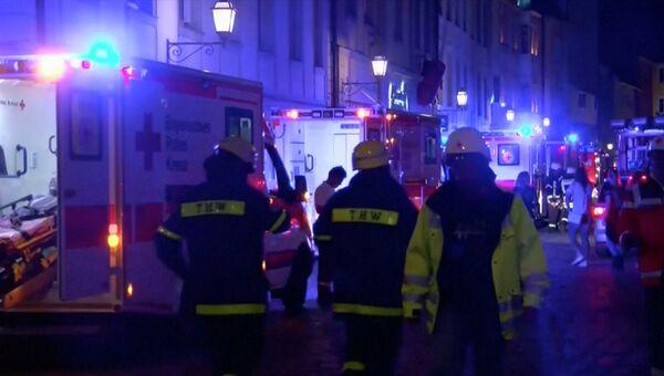 На месте взрыва в немецком городе Ансбахе