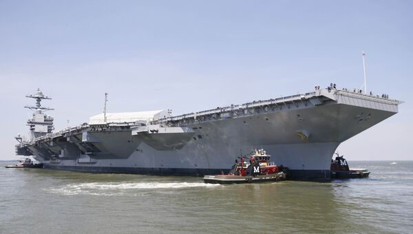 Авианосец USS Gerald R. Ford (CVN-78). Архивное фото