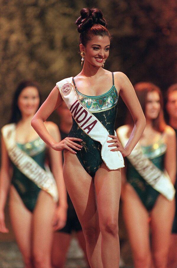 Победительница конкурса Мисс Мира Айшвария Рай из Индии, 1994 год