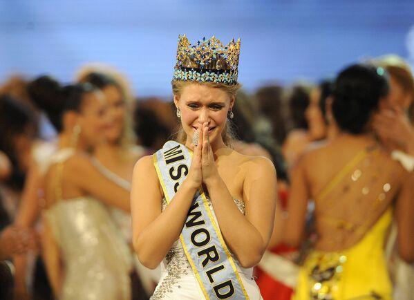 Победительница конкурса Мисс Мира Александрия Миллс из России, 2010 год