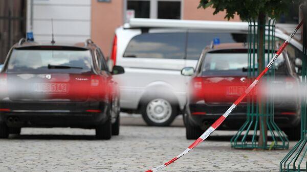 Автомобили полиции Германии в Ансбахе