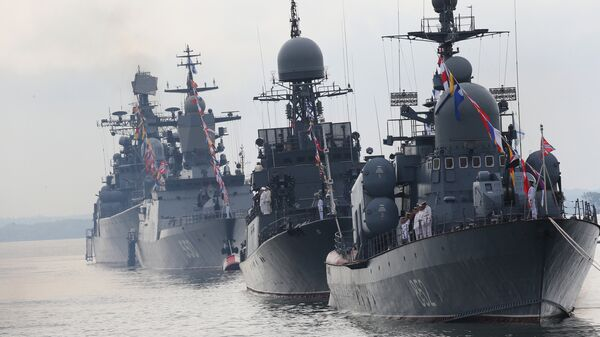 Генеральная репетиция парада ко Дню ВМФ России в Балтийске