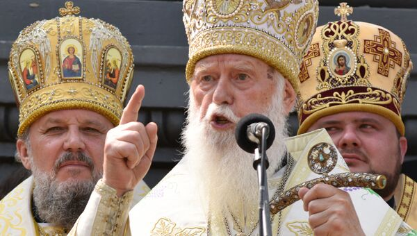 Глава Украинской православной церкви Киевского патриархата патриарх Филарет. Архивное фото