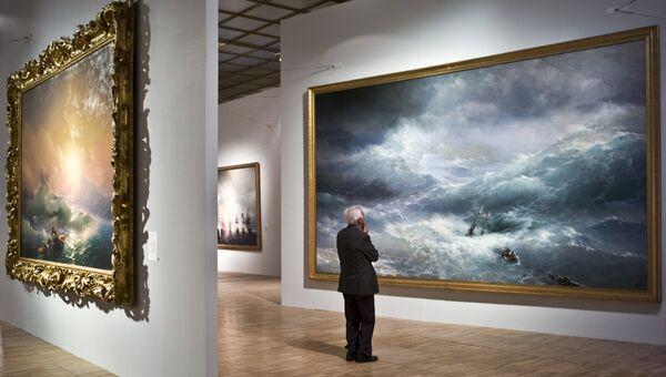 Показ выставки Иван Айвазовский. К 200-летию со дня рождения в Третьяковской галерее