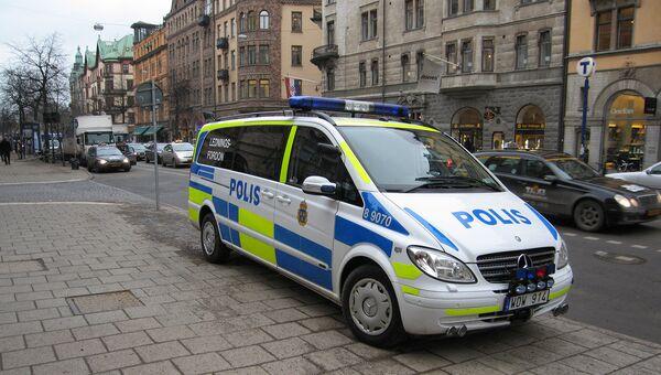 Автомобиль шведской полиции. Архивное фото