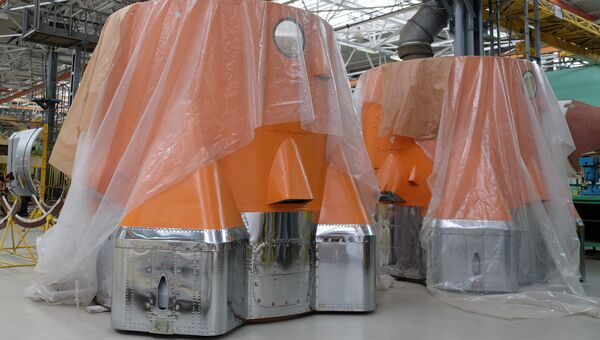 Цех по изготовлению корпусов для космических аппаратов РКЦ Прогресс в Самаре. Архивное фото