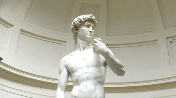 Давид - мраморная статуя работы Микеланджело