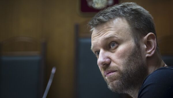 Алексей Навальный во время судебного слушания. Архивное фото
