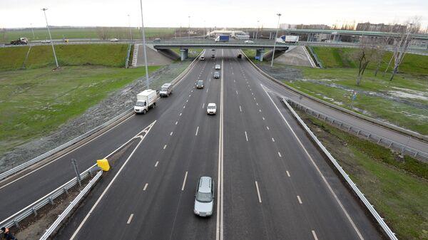 Объездная дорога вокруг Воронежа на новом платном участке автомобильной дороги М-4 Дон