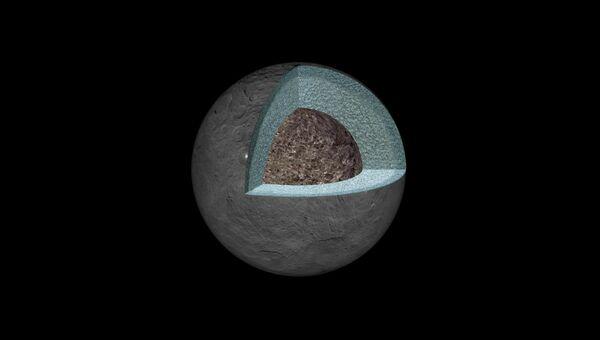 Структура недр Цереры, карликовой планеты